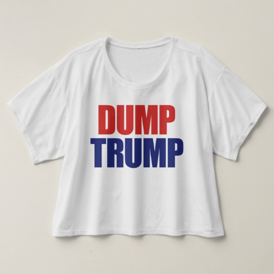 Dump Trump Women's Bella+Canvas Boxy Crop Top T-Shirt