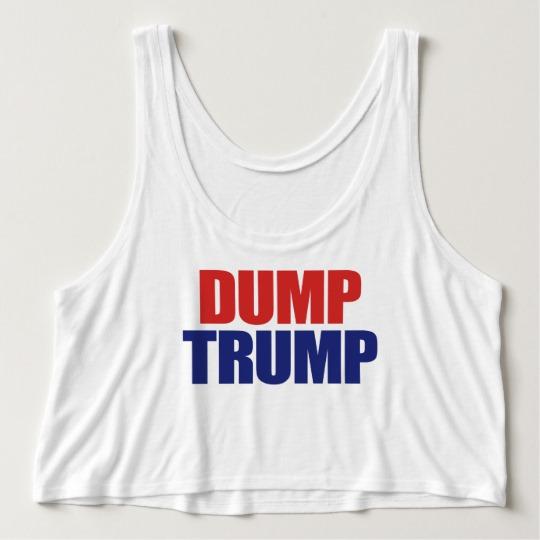 Dump Trump Women's Bella+Canvas Flowy Crop Tank Top