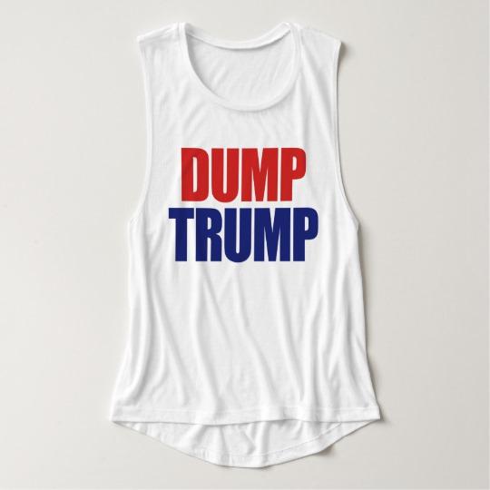 Dump Trump Women's Bella+Canvas Flowy Muscle Tank Top