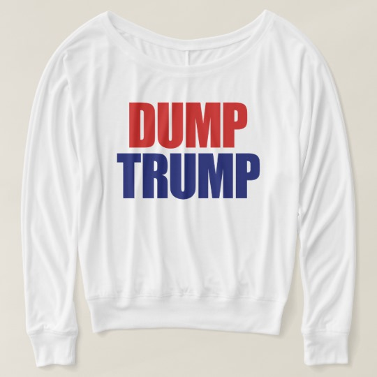 Dump Trump Women's Bella+Canvas Flowy Off Shoulder Shirt