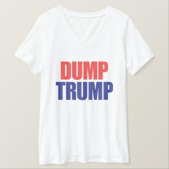 Dump Trump Women's Bella+Canvas Relaxed Fit V-Neck T-Shirt