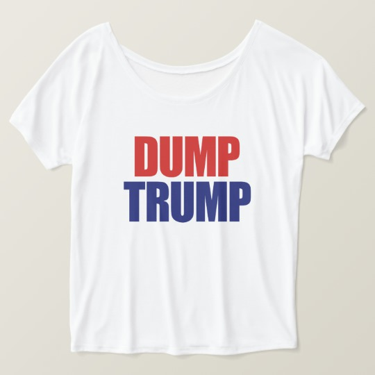 Dump Trump Women's Bella+Canvas Slouchy Boyfriend T-Shirt