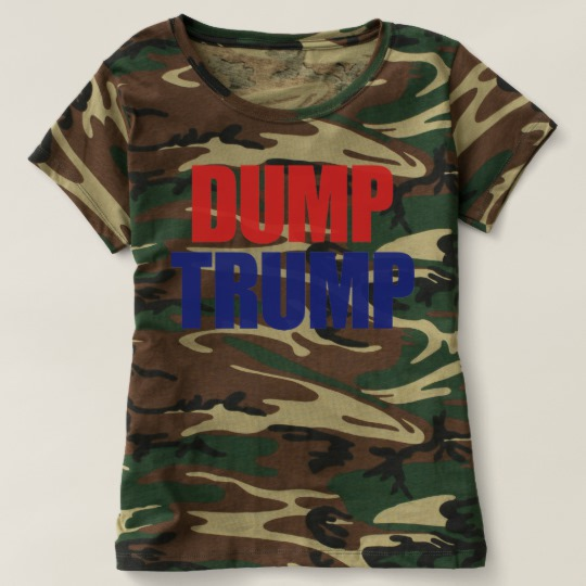 Dump Trump Women's Camouflage T-Shirt