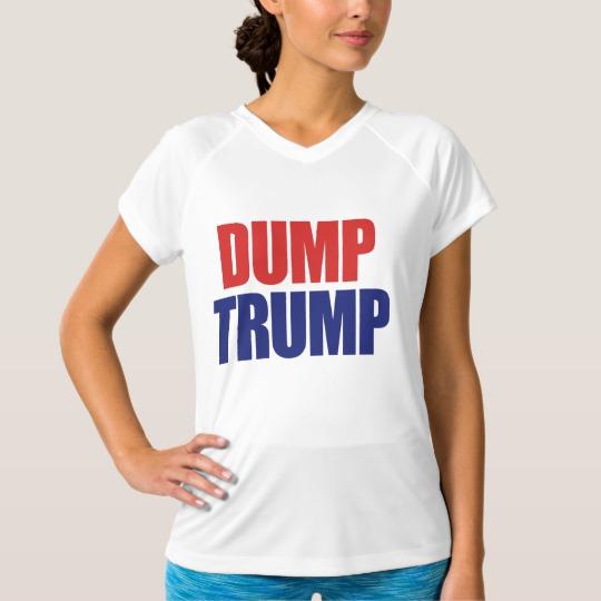 Dump Trump Women's Champion Double-Dry V-Neck T-Shirt