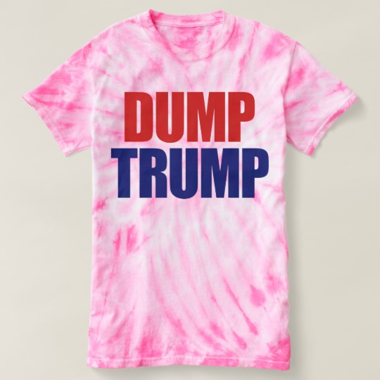 Dump Trump Women's Cyclone Tie-Dye T-Shirt