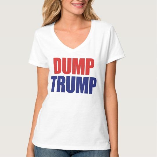 Dump Trump Women's Hanes Nano V-Neck T-Shirt