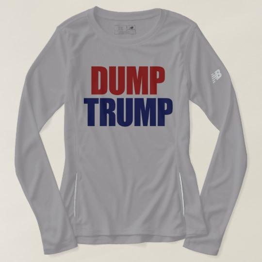 Dump Trump Women's New Balance Long Sleeve T-Shirt