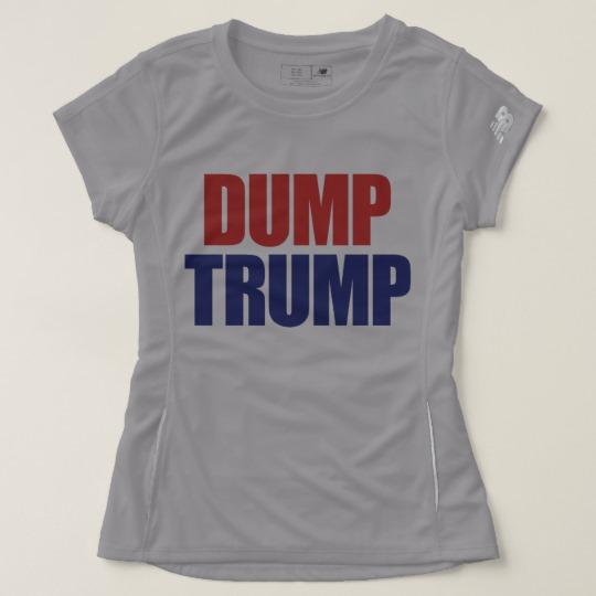 Dump Trump Women's New Balance T-Shirt