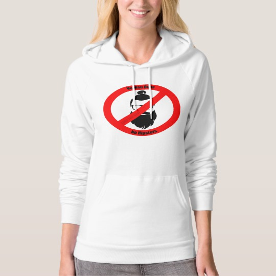 No Man Buns No Hipsters American Apparel California Fleece Pullover Hoodie