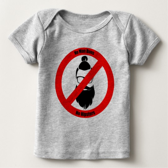 No Man Buns No Hipsters Baby American Apparel Lap T-Shirt