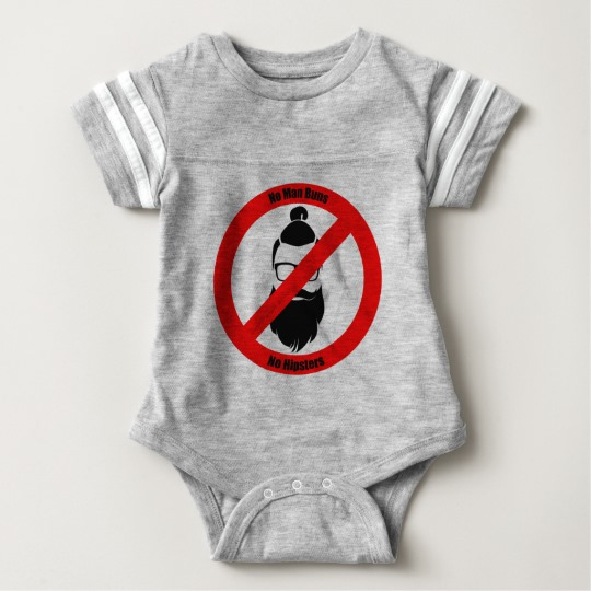 No Man Buns No Hipsters Baby Football Bodysuit