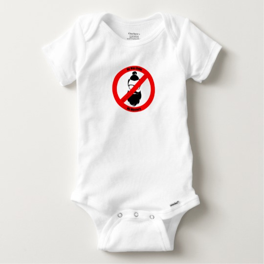 No Man Buns No Hipsters Baby Gerber Cotton Onesie