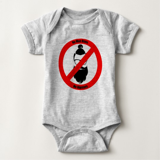 No Man Buns No Hipsters Baby Jersey Bodysuit