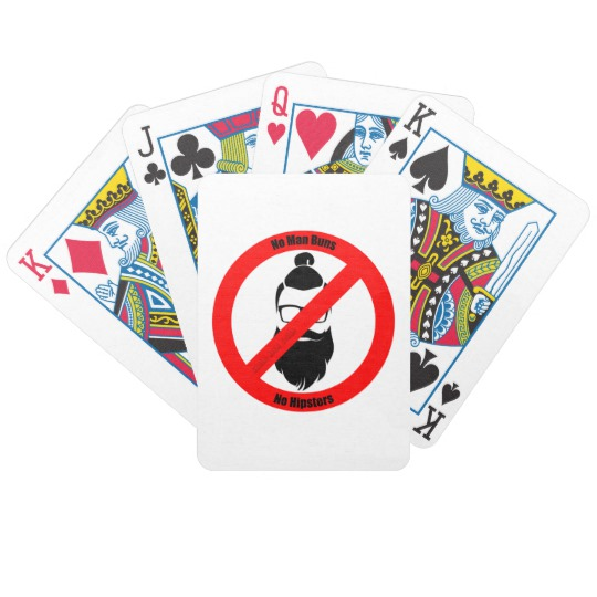 No Man Buns No Hipsters Bicycle Playing Cards