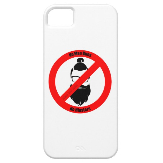 No Man Buns No Hipsters Case-Mate Barely There iPhone SE + iPhone 5/5S Case