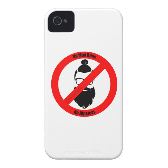 No Man Buns No Hipsters Case-Mate iPhone 4 Barely There Universal Case