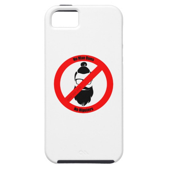 No Man Buns No Hipsters Case-Mate Tough iPhone SE + iPhone 5/5S Case