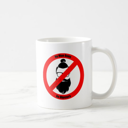 No Man Buns No Hipsters Classic Mug