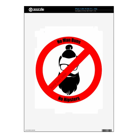No Man Buns No Hipsters Decal for iPad