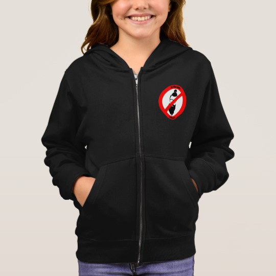 No Man Buns No Hipsters Girl's Basic Zip Hoodie