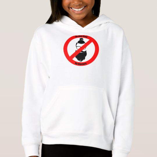 No Man Buns No Hipsters Girls' Fleece Pullover Hoodie