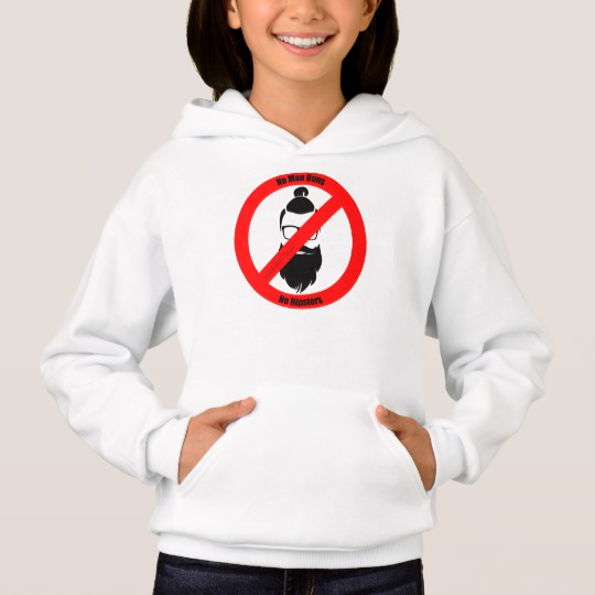 No Man Buns No Hipsters Girls' Hanes ComfortBlend® Hoodie