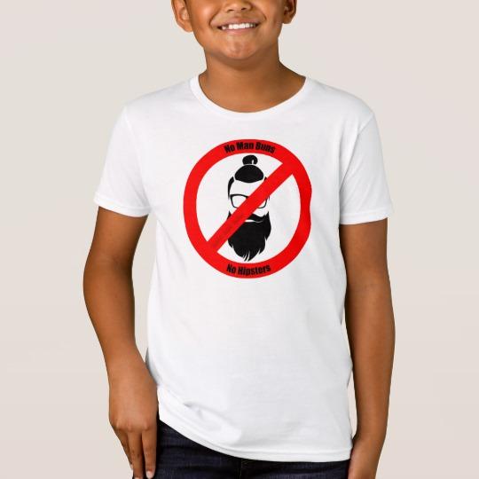No Man Buns No Hipsters Kids' American Apparel Organic T-Shirt