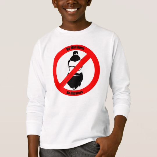 No Man Buns No Hipsters Kids' Basic Long Sleeve T-Shirt