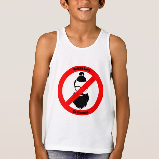 No Man Buns No Hipsters Kids' Bella+Canvas Jersey Tank Top