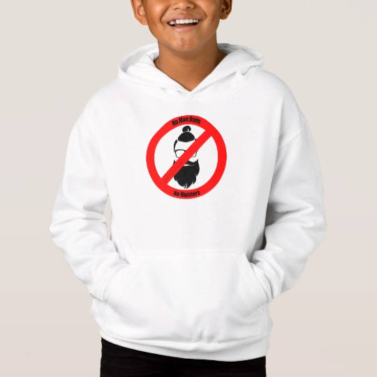 No Man Buns No Hipsters Kids' Fleece Pullover Hoodie