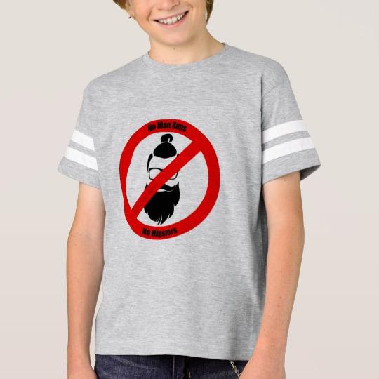 No Man Buns No Hipsters Kids' Football Shirt