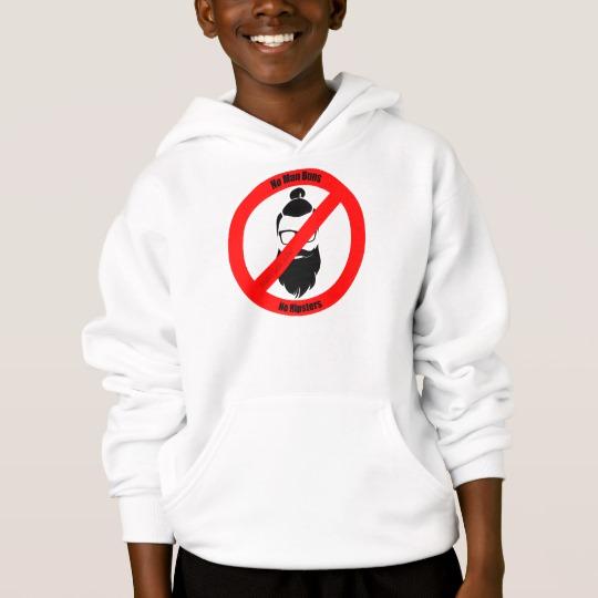 No Man Buns No Hipsters Kids' Hanes ComfortBlend® Hoodie
