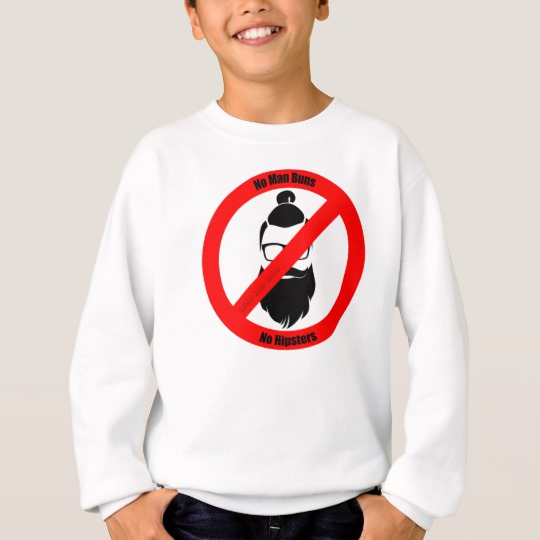 No Man Buns No Hipsters Kids' Hanes ComfortBlend® Sweatshirt