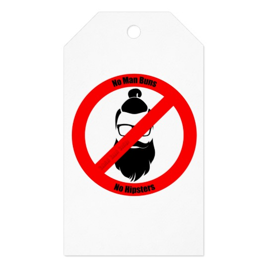 No Man Buns No Hipsters Matte Gift Tag