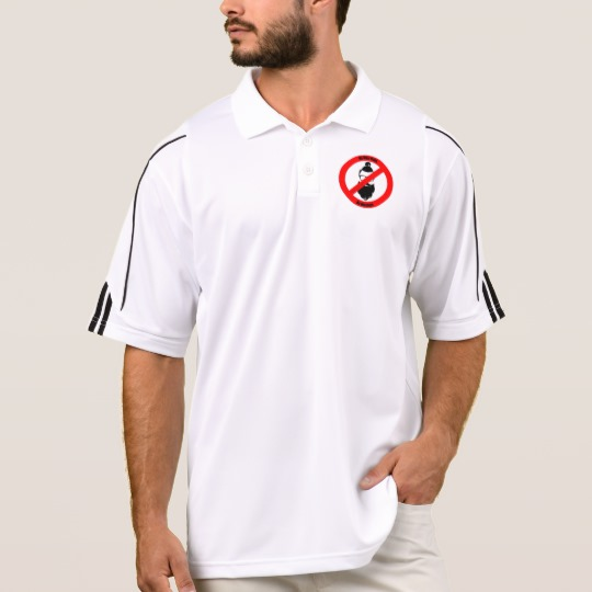 No Man Buns No Hipsters Men's Adidas Golf ClimaLite® Polo Shirt