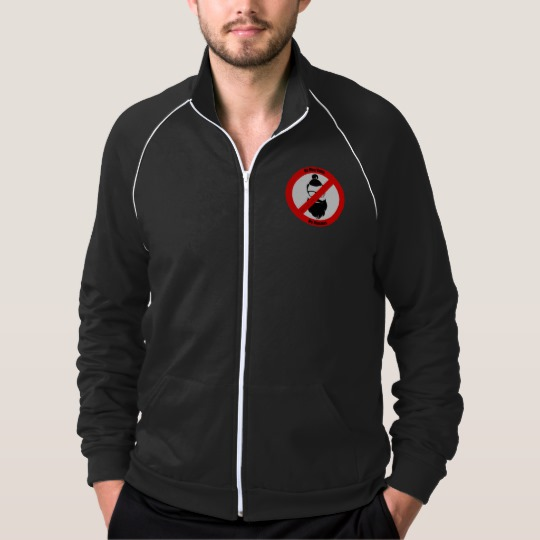 No Man Buns No Hipsters Men's American Apparel California Fleece Track Jacket