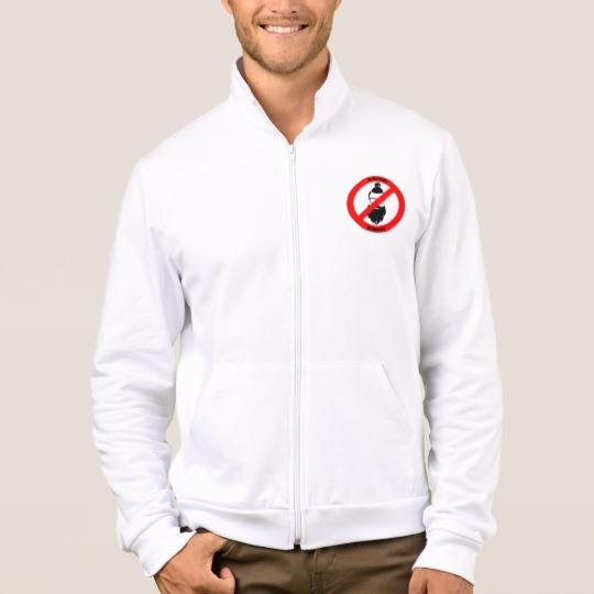 No Man Buns No Hipsters Men's American Apparel California Fleece Zip Jogger