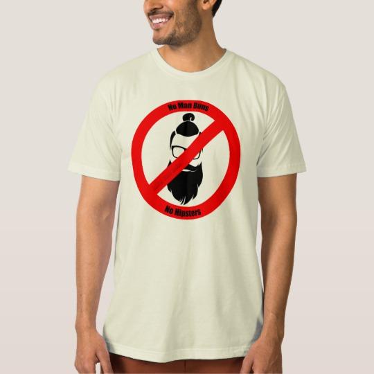 No Man Buns No Hipsters Men's American Apparel Organic T-Shirt
