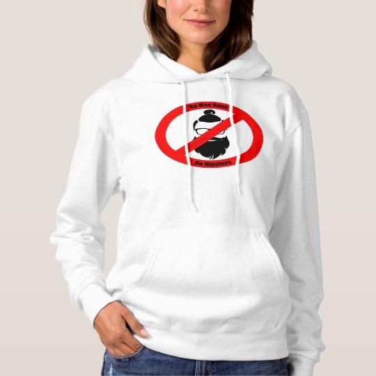 No Man Buns No Hipsters Men's Basic Hooded Sweatshirt