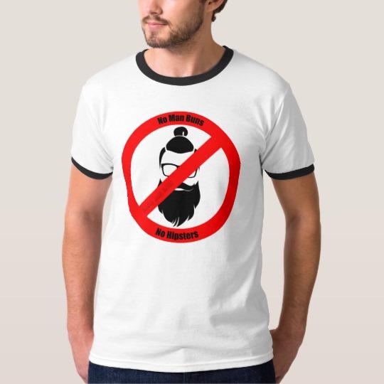 No Man Buns No Hipsters Men's Basic Ringer T-Shirt