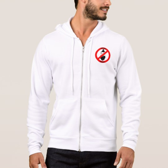 No Man Buns No Hipsters Men's Bella+Canvas Full-Zip Hoodie