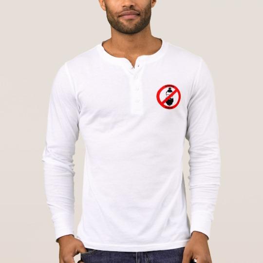 No Man Buns No Hipsters Men's Bella+Canvas Henley Long Sleeve Shirt