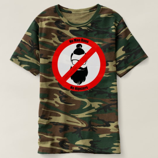 No Man Buns No Hipsters Men's Camouflage T-Shirt