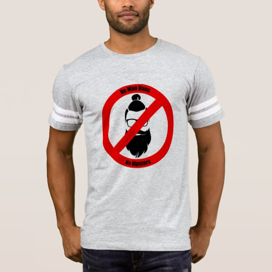 No Man Buns No Hipsters Men's Football T-Shirt