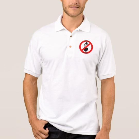 No Man Buns No Hipsters Men's Gildan Jersey Polo Shirt