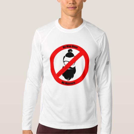 No Man Buns No Hipsters Men's New Balance Long Sleeve T-Shirt