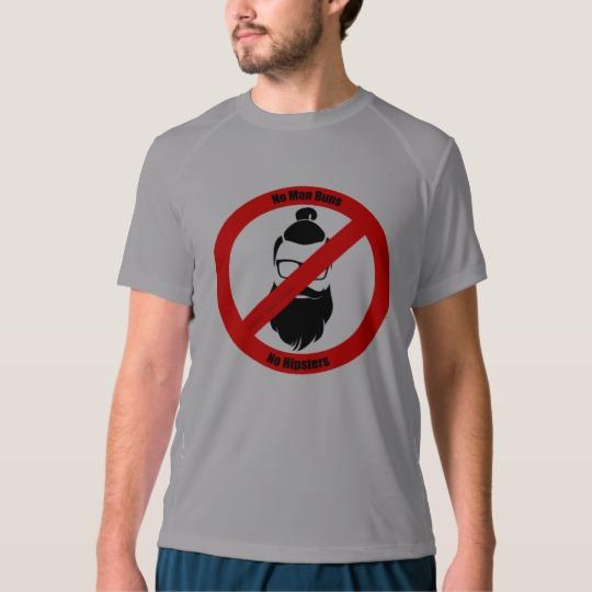 No Man Buns No Hipsters Men's New Balance T-Shirt