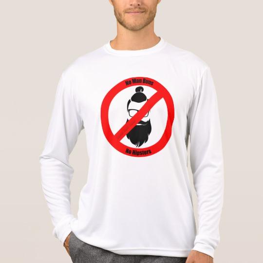 No Man Buns No Hipsters Men's Sport-Tek Competitor Long Sleeve T-Shirt