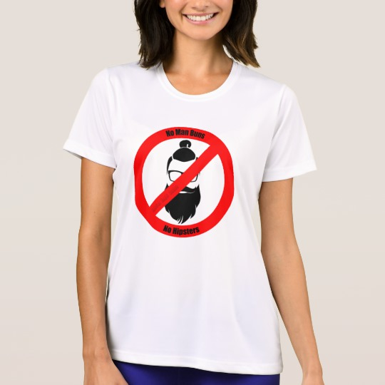 No Man Buns No Hipsters Men's Sport-Tek Competitor T-Shirt