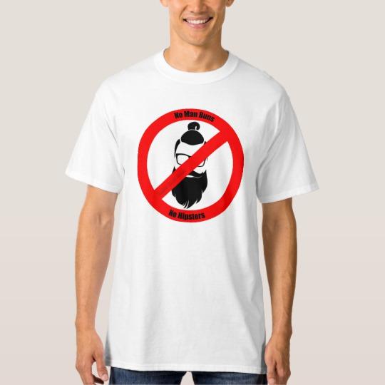 No Man Buns No Hipsters Men's Tall Hanes T-Shirt